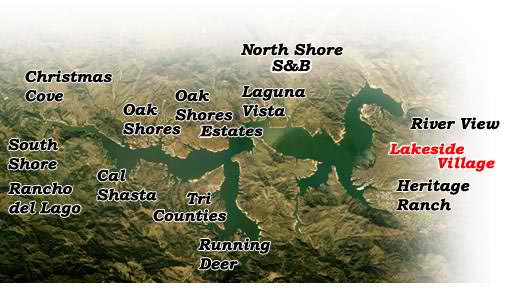 Image Map of Lake Nacimiento Real Estate Regions
